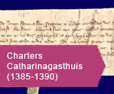 Charters Catharinagasthuis 1385 1390